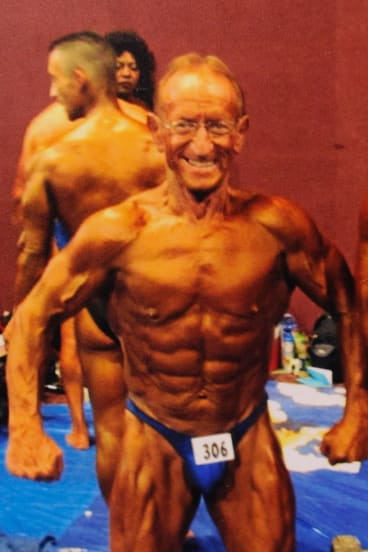 Harry Haureliuk at the Mr Olympia competition in San Francisco in 2011.