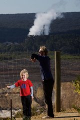 Nick Day won't send his five-year-old son Finn to Anglesea Primary School because of the proximity to the coal mine/power station.