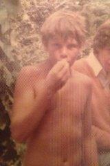 <i>Herald</i> columnist Peter FitzSimons at a Knox Grammar camp in 1973.