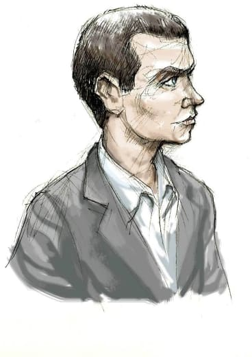 An artist impression of Matthew Graham.