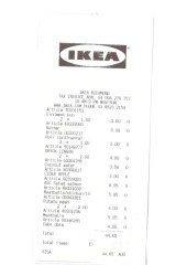 Receipt for lunch at IKEA with The Listies.