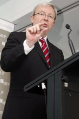 """Kevin Rudd once claimed tackling climate change was the """"great moral challenge""""."""
