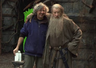 Andrew Lesnie and Ian McKellen in Middle Earth, the film territory in which he cemented his legacy.