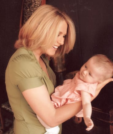 The author with her daughter Grace.