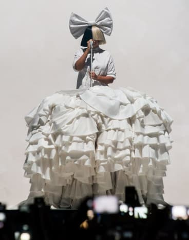 Sia performing her 'Nostalgic For The Present' tour in Melbourne.