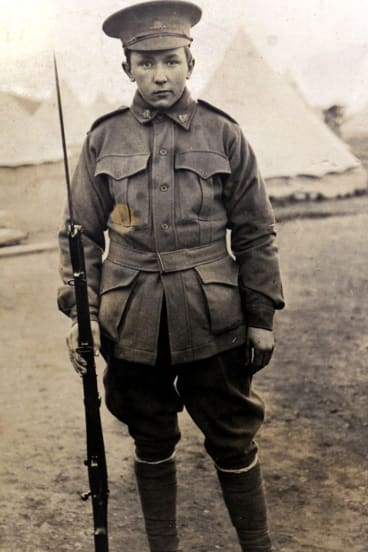 Alec Campbell, aged 16, before heading to Gallipoli.
