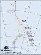 Cyclone Pam heads towards New Zealand