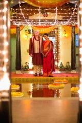 Husband and wife, Dom and Divya.