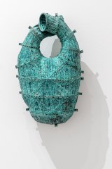 Bronwyn Oliver, <i>Heart</i>, 1988, patinated copper strip and rivets, Art Gallery of South Australia.