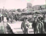 A still from the Lumiere brothers' Leaving Jerusalem by Railway.