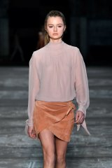 A model wears Bec & Bridge at a Fashion Week Australia show last year.