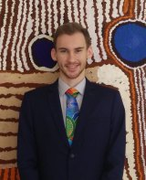 Nathan Pitt's cultural connections are to the Yieman people of central Australia.