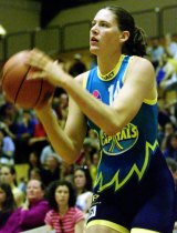 Jackson, pictured for the capitals in 2001 played in Canberra, and for the Opals, for almost 20 years.