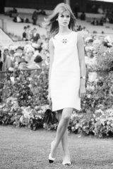 Breaking the rules: English model Jean Shrimpton at Flemington in 1965.