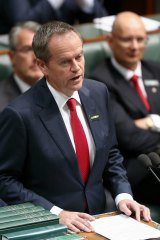 Polarising speech: Opposition Leader Bill Shorten.