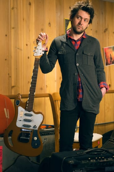 """""""At this point I've got to move on"""": Conor Oberst in the studio recording his new album, <i>Salutations</i>."""