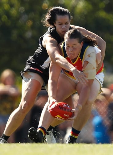 Sarah has shone for the Crows after being overlooked by four local clubs at last year's draft.