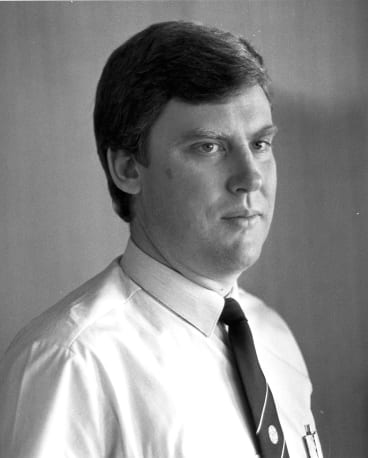 Geoff Woodrow when he worked for Victoria Police.