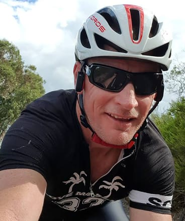 """""""A show of strength to show we can't be wrapped up in cotton wool"""": cyclist Brad Bootsma who has decided to ride the course despite the cancellation of the Indian Pacific Wheel Race."""