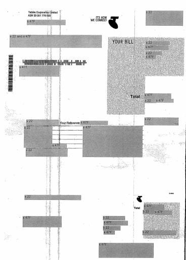 George Brandis' July phone bill.