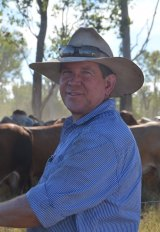 Fifth-generation grass-fed cattle farmer Ian McCamley.