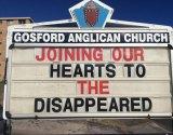 Gosford Anglican Church noticeboard.