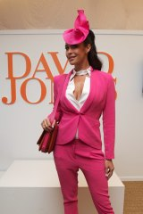 Megan Gale at the David Jones marquee in 2011.
