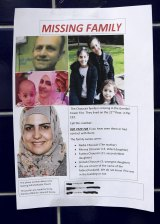 A poster appealing for information about missing residents seen near Grenfell Tower.