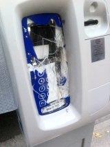 Vandals smashed parking meters in Yarraville.