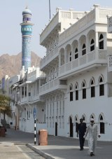 A street in Muscat, the capital of the Sultanate of Oman.