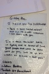 This quirky bubble wrap 'cover letter' paid off for the applicant.
