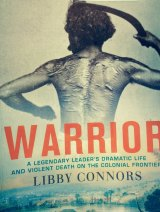 """Cover of Libby Connors book on Dundalli, """"Warrior"""""""