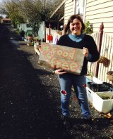 Lou Ridsdale has planted an innovative idea and set up a Food Is Free site in a laneway near her home in Redan.