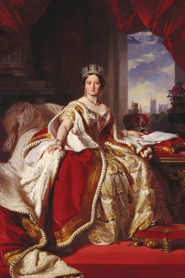 In 1859, aged 40, Victoria was in her prime: with nine children, a country that had avoided revolution, and a husband she adored. She thought this portrait, by court favourite Franz Xaver Winterhalter, was magnificent.