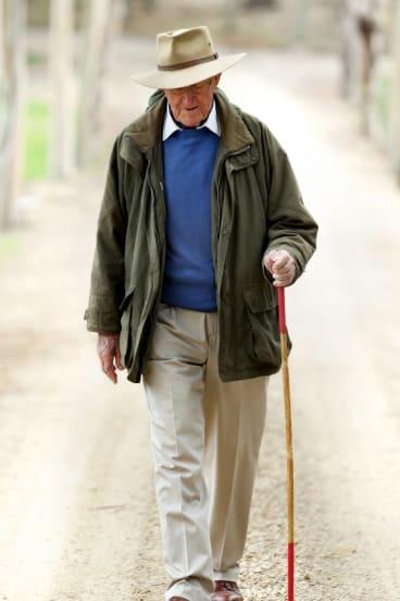 Malcolm Fraser at home in Merricks. Photo: Simon Schluter