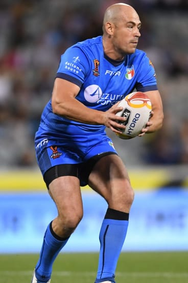 Terry Campese looks for options at Canberra Stadium on Friday night.