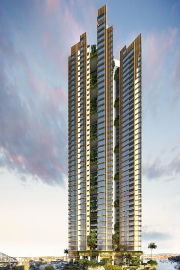 An artists' impression of Cbus Property's proposed development.