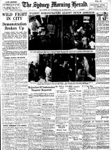 By mid-1947 Indonesia's struggle for independence and its support in Australia were front page news on the July 26 edition of The Sydney Morning Herald.