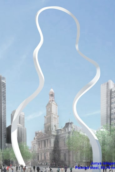 An artist's impression of the new sculpture at Town Hall.