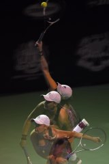 """Multiple exposure: Barty won two titles in Malaysia in """"probably  the best tennis week of my life""""."""