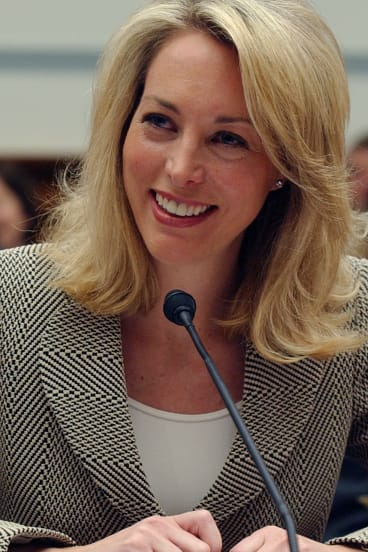 Former CIA operative Valerie Plame testifies on Capitol Hill in Washington in 2007.