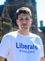 Elected: Alex Fitton, a staffer to Liberal MP Mark Taylor, pictured at the University of Sydney.