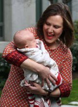 New mum Kelly O'Dwyer (with daughter Olivia) may also be moved into cabinet.