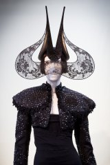 a852721fc37 Lace Wings Hat by Philip Treacy