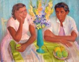 Margaret Olley's Two Sisters is expected to fetch $20,000 to $30,000.