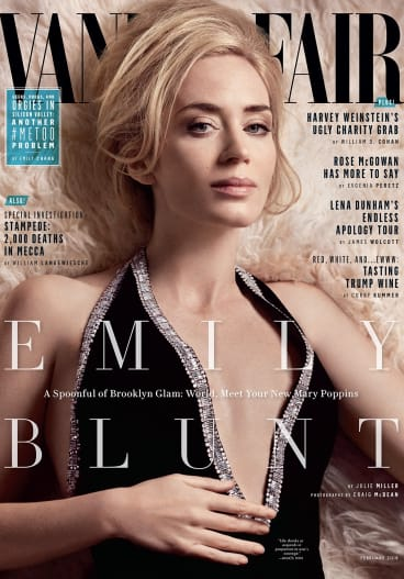Emily Blunt on the cover of Vanity Fair.