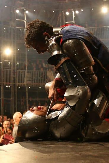 A fight scene from Pop-up Globe's Henry V.
