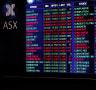ASX prices board.