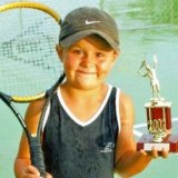 A very young Ashleigh Barty when her career was only just beginning.
