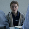 Tough role: Kaitlyn Dever plays a rape victim, who gets talked out of charges by male detectives.